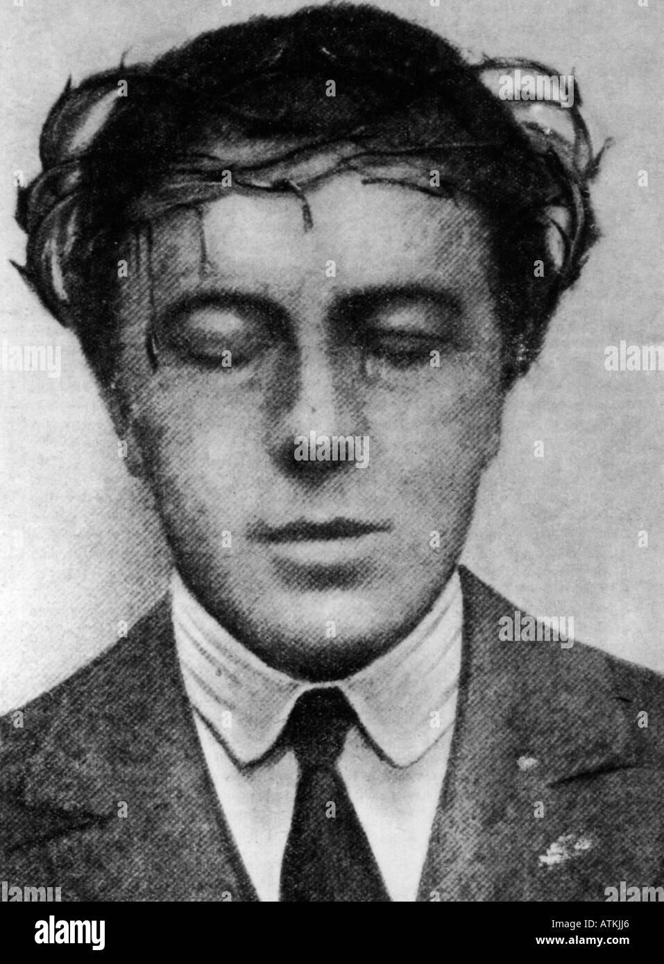 ANDRE BRETON French surrealist writer 1896 to 1966 best known for his novel Nadja first published in 1928 - Stock Image