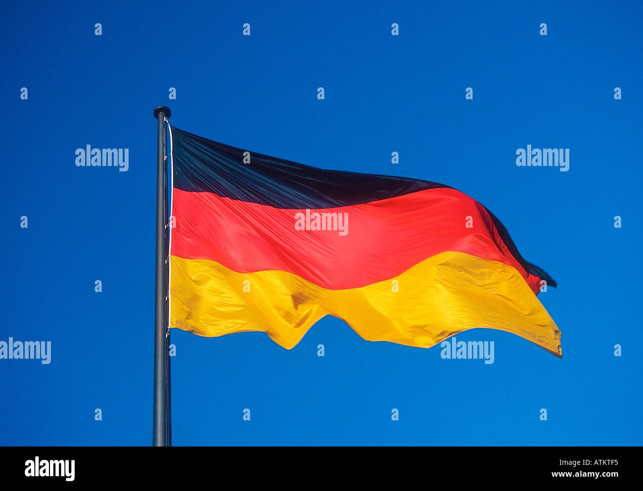 German flag - Stock Image