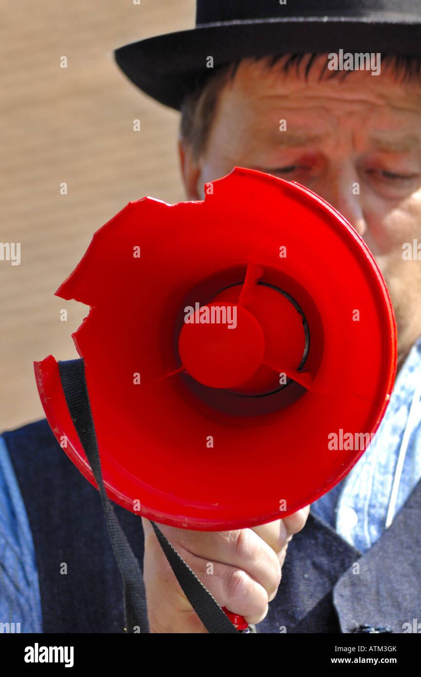 Broken megaphone - Stock Image
