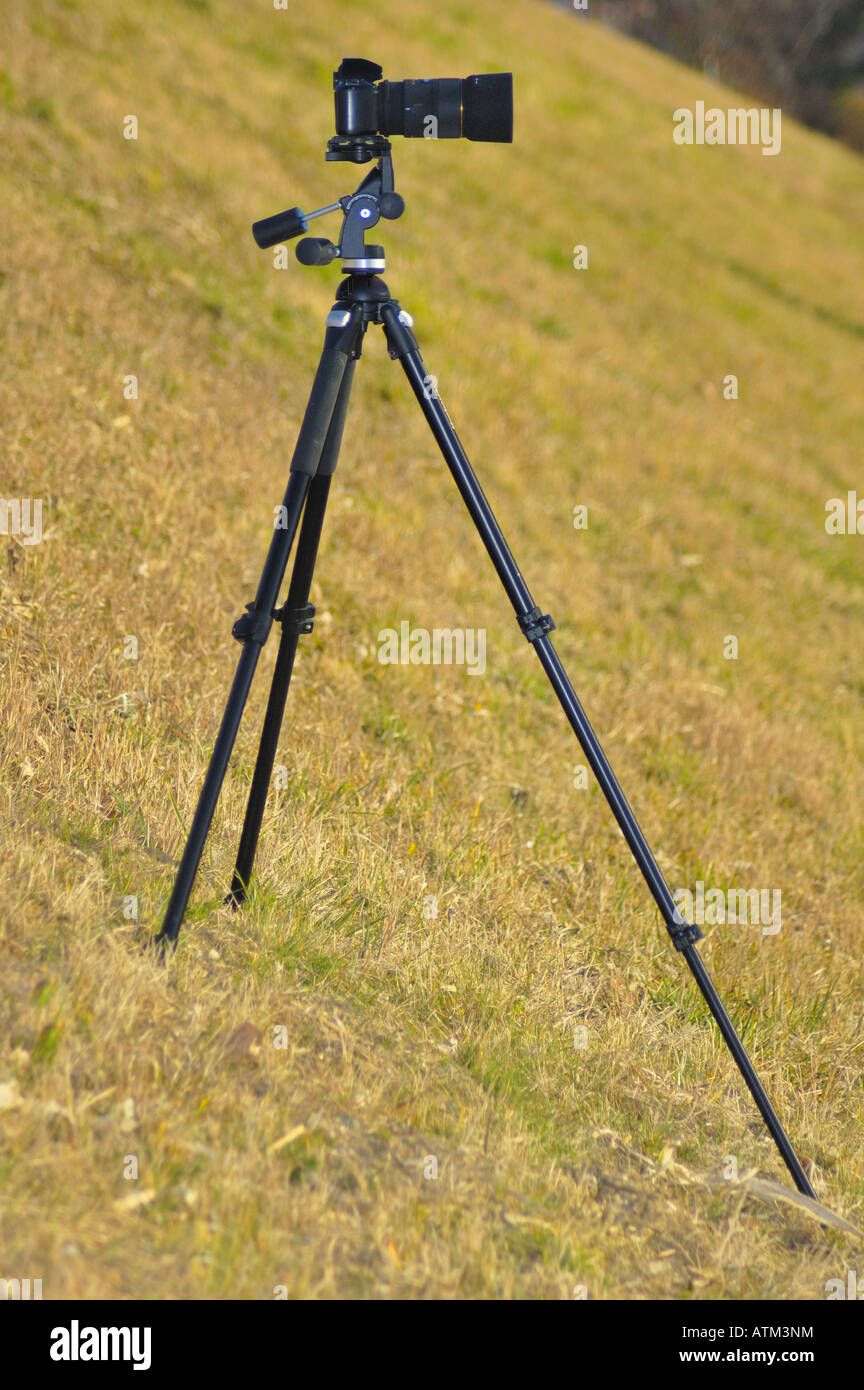 Tripod technique - Stock Image