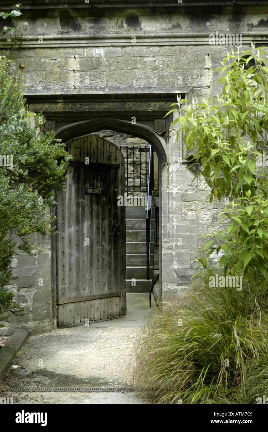 Old Wooden Door Trinity College Oxford University & Old Wooden Door Trinity College Oxford University Stock Photo ...