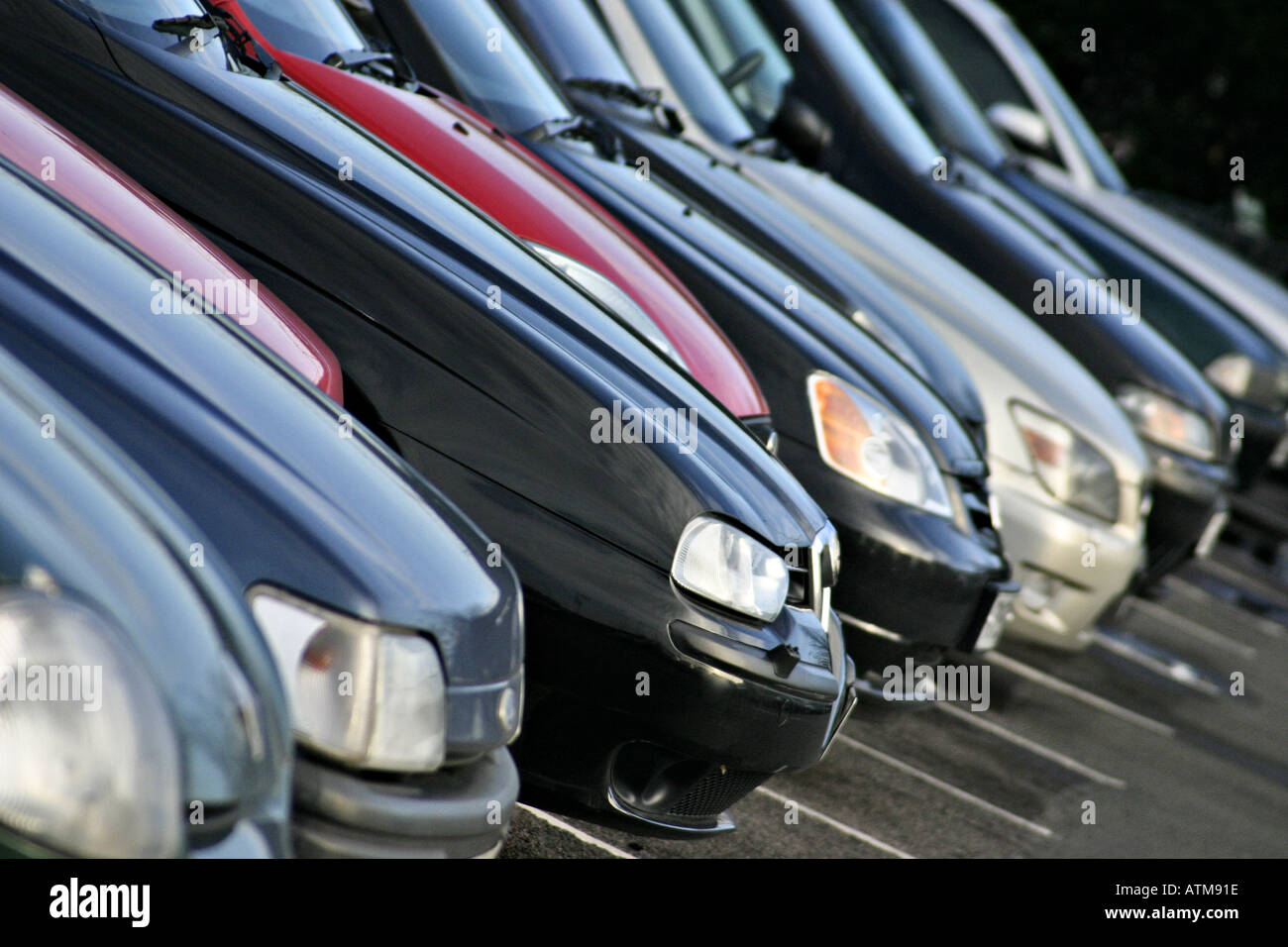 Row of cars - Stock Image