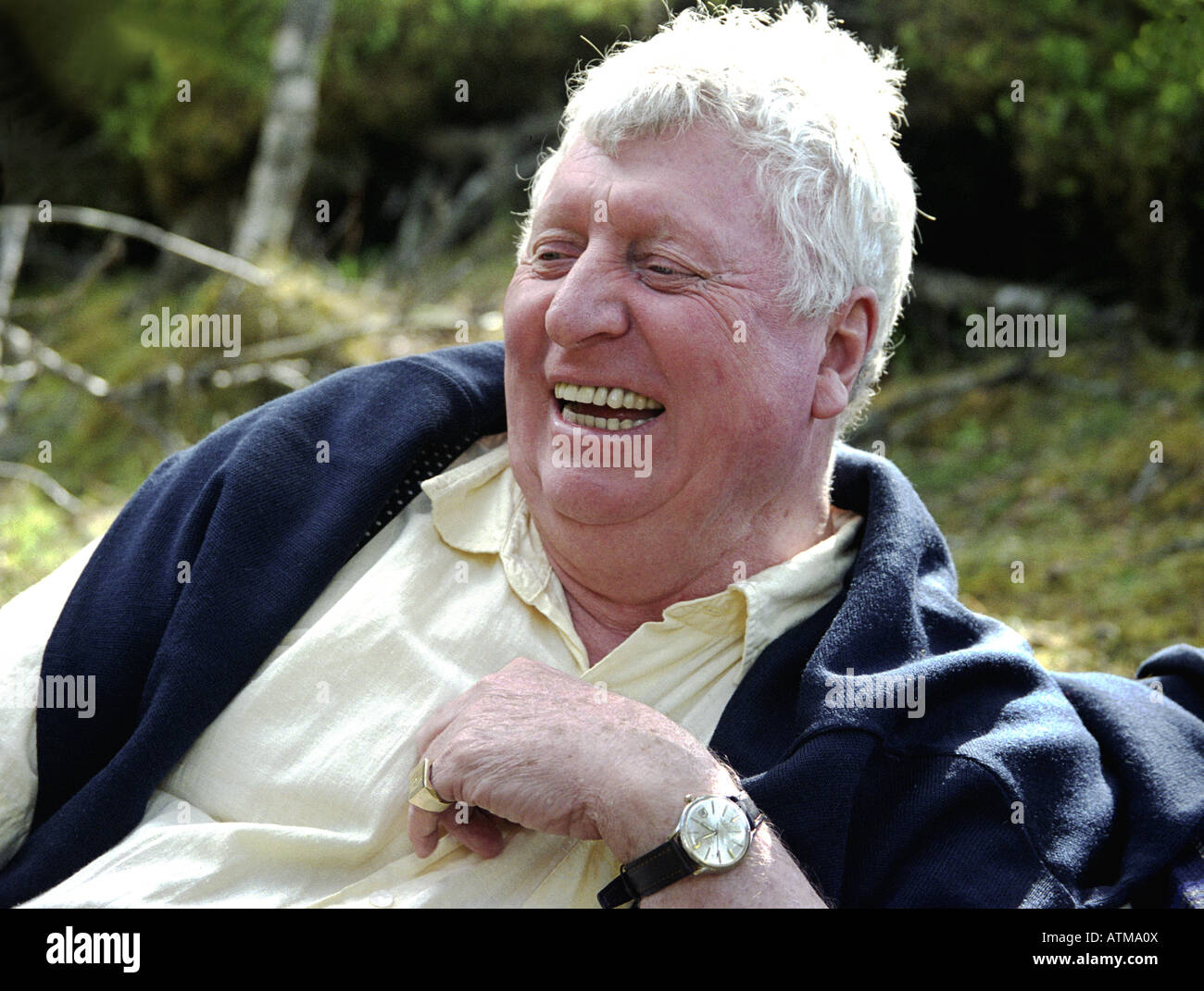 Tom Baker British actor best known as Dr Who on television - Stock Image