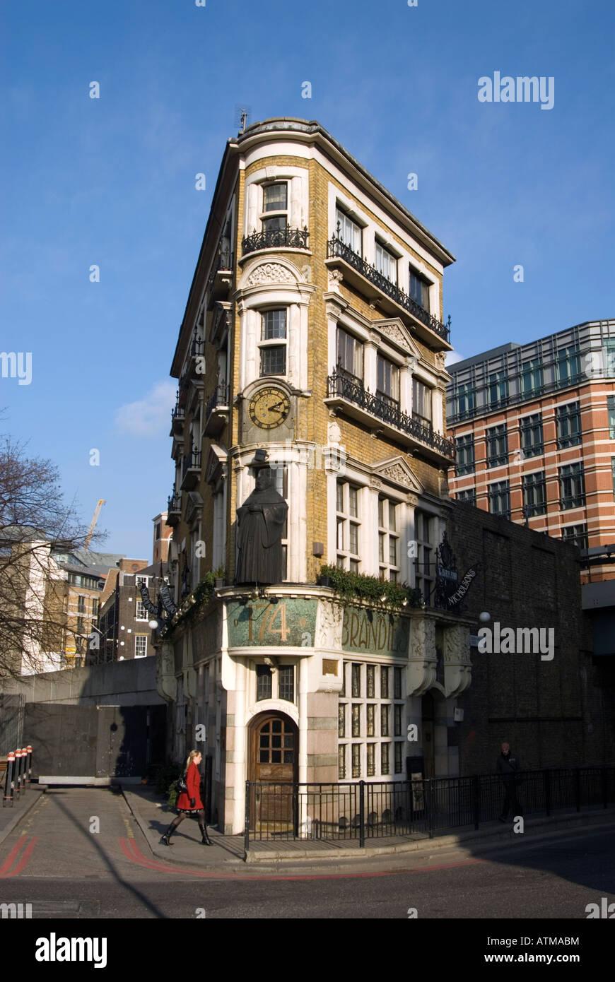 The Black Friar pub in Blackfriars London UK - Stock Image