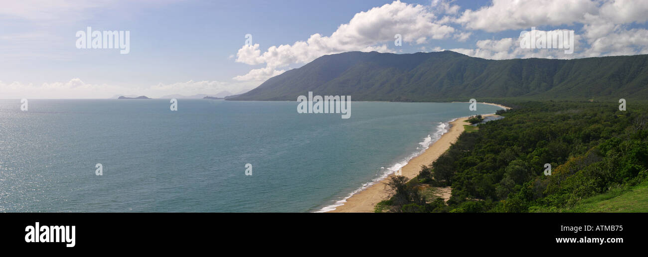 Panorama of the Rex lookout near Cairns and Port Douglas Queensland Australia Stock Photo