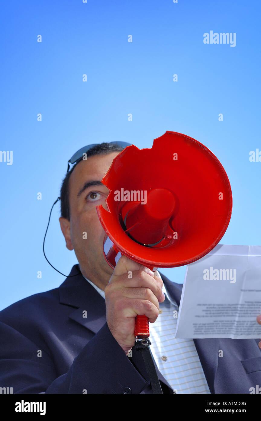Public speaking - Stock Image