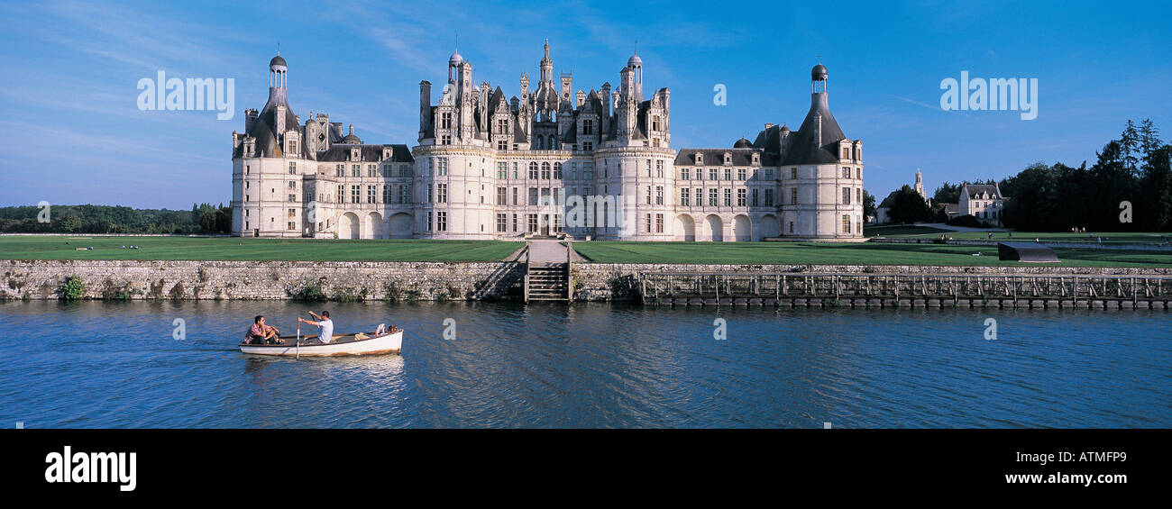 Chateau de Chambord Loire Valley France - Stock Image