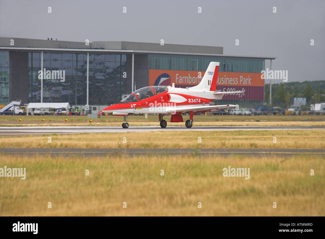 Hindustan Aeronautics Ltd IJT 36 Trainer ready to take off - Stock Image