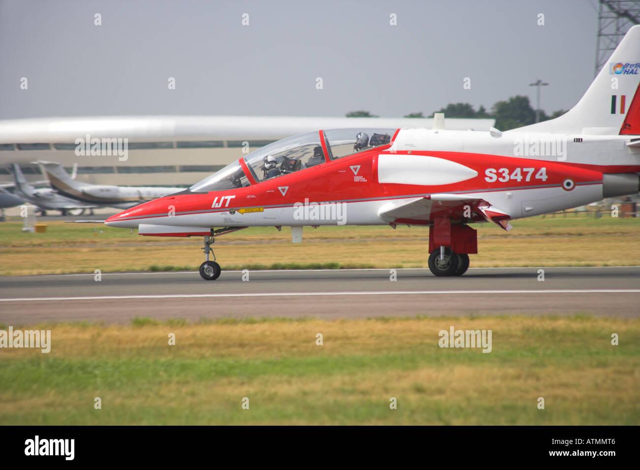 Hindustan Aeronautics Ltd IJT 36 Trainer landing - Stock Image