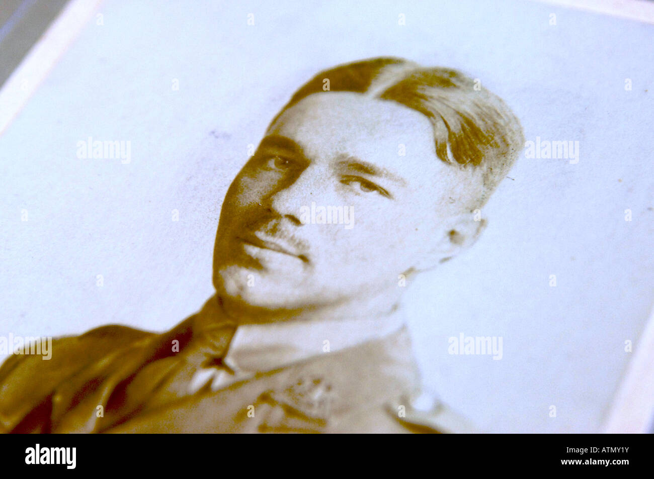 Wilfred Owen portrait photograph - Stock Image