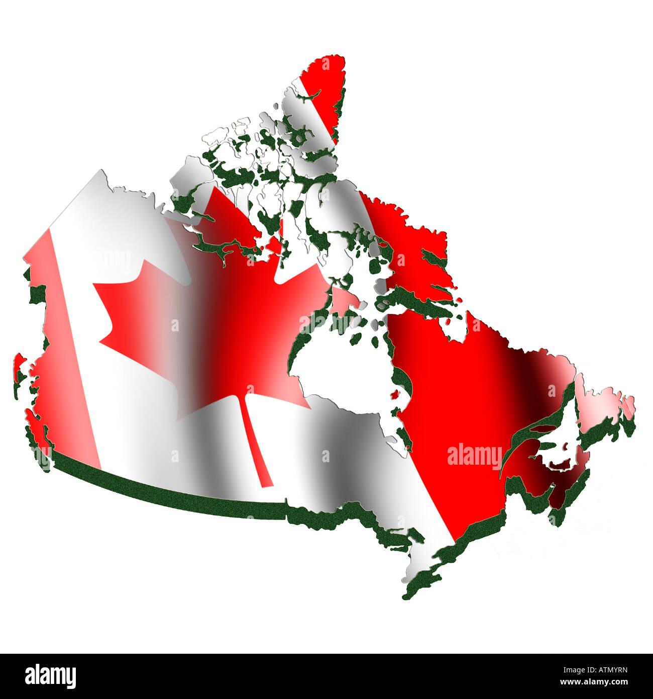 Canada Map Flag.Outline Map And Flag Of Canada Stock Photo 16354184 Alamy