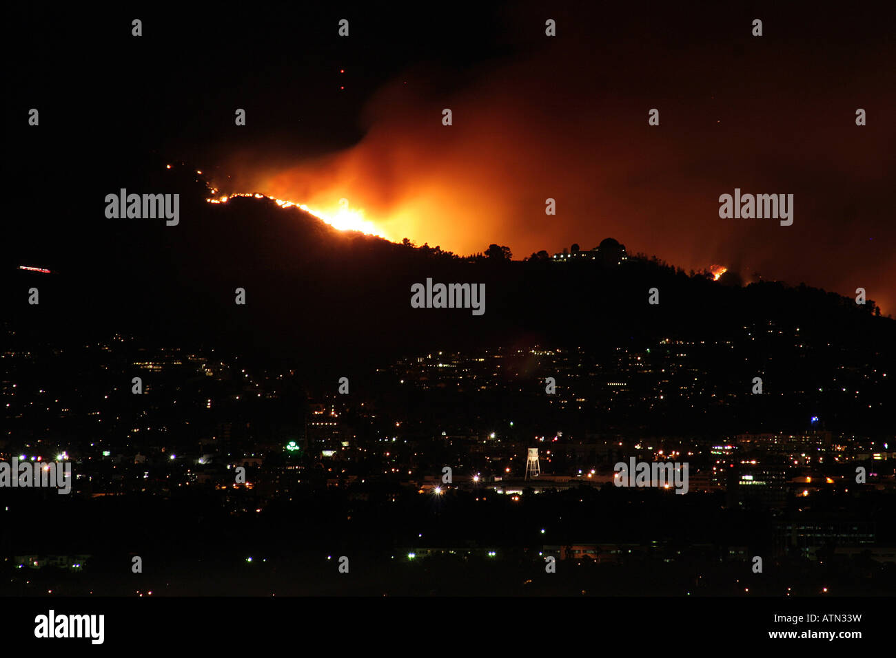 Los Angeles fire of May 2007 - Stock Image