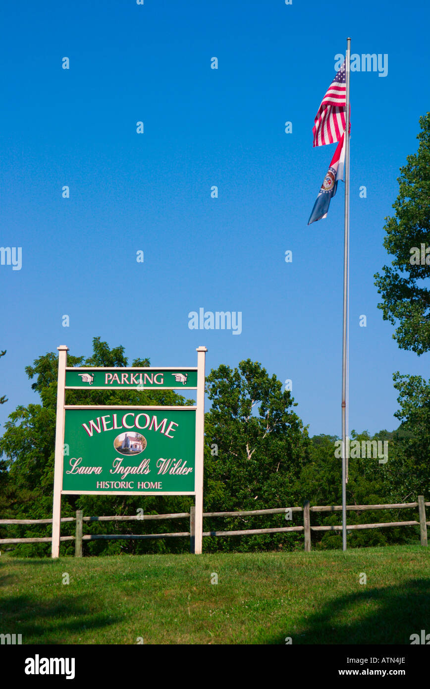 signs at Laura Ingalls Wilder Home - Stock Image