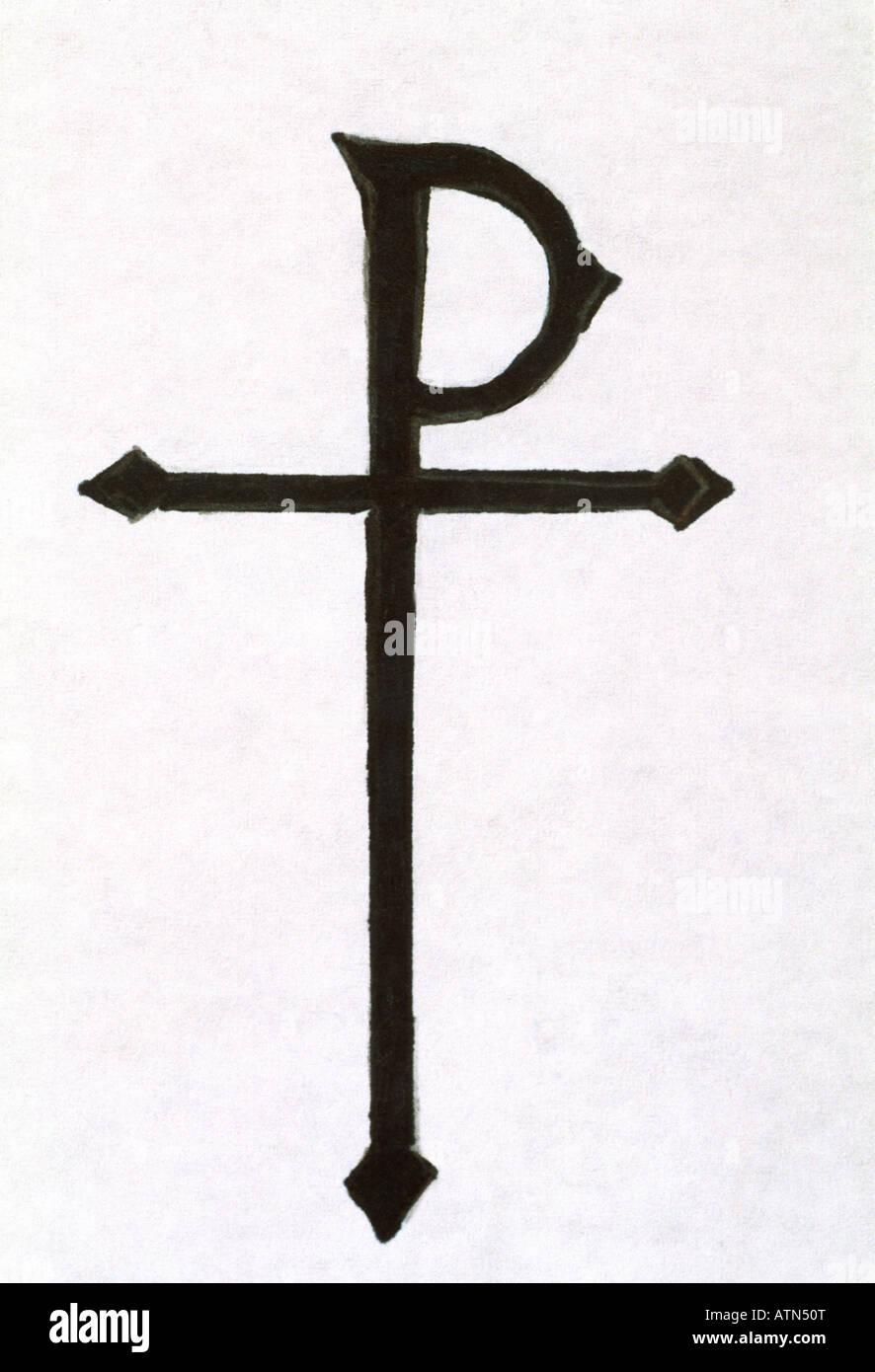 Chi Rho Symbol Stock Photo 16355927 Alamy