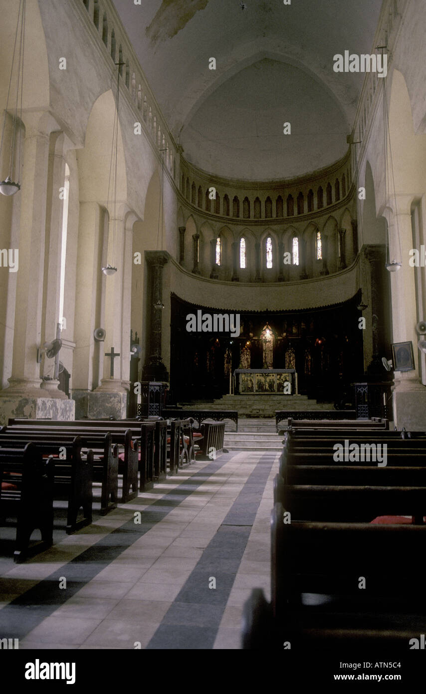 Interior of the Anglican Cathedral Church of Christ Zanzibar Tanzania East Africa - Stock Image