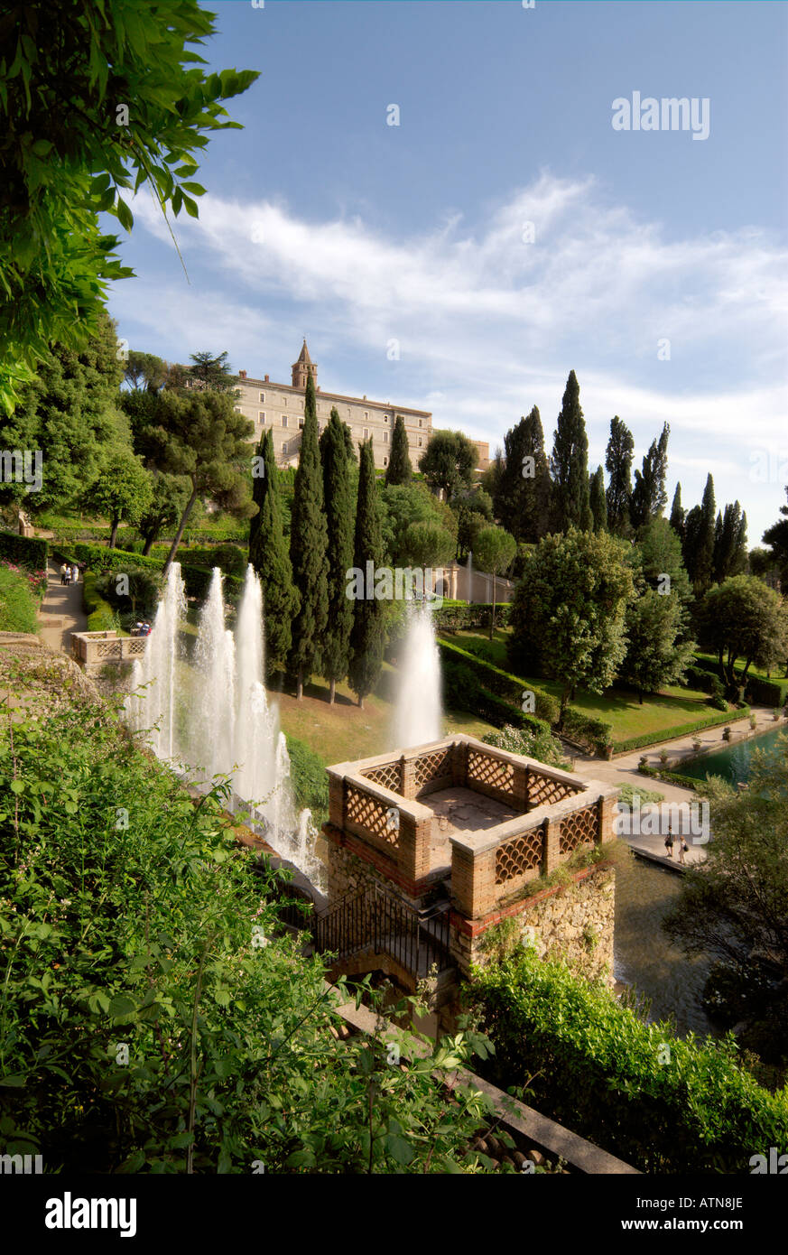 Villa d\'Este Tivoli Italy Stock Photo: 9346861 - Alamy