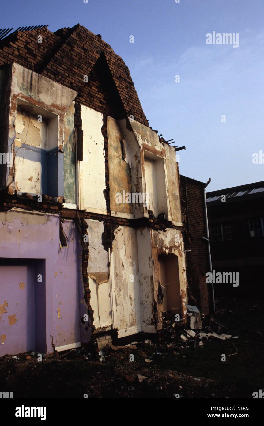Demolished House Hanley Stoke-on-Trent - Stock Image