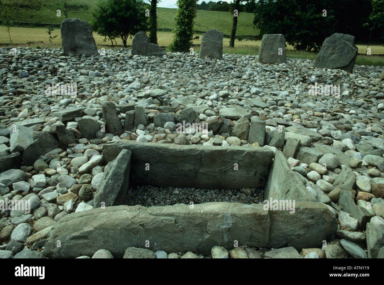 UK Scotland Templewood, Mull of Kintyre.  Neolithic Stone Burial site - Stock Image