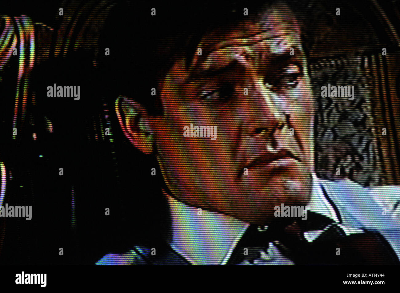 Roger Moore, The Saint, 1960s, sixties, seventies, television, programme, series, espionage, spy, agent, detective - Stock Image