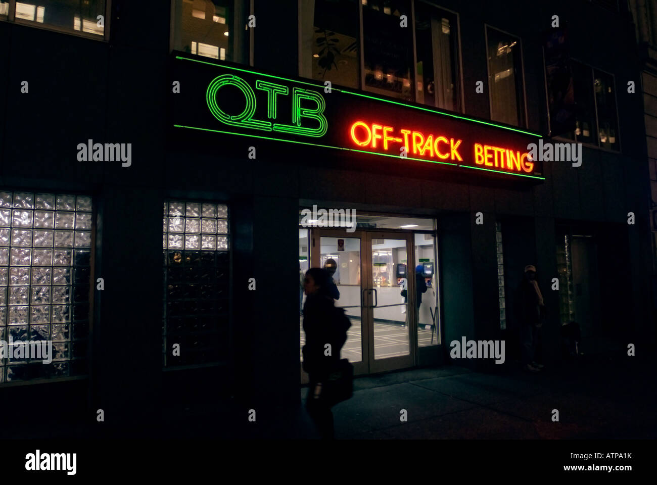An Off Track Betting parlor in Midtown Manhattan - Stock Image