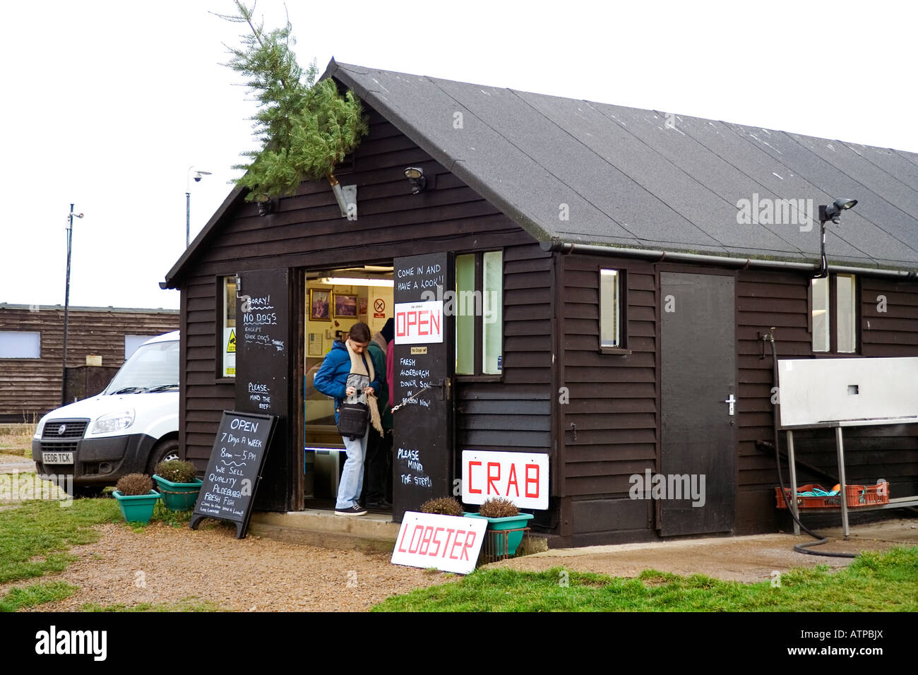 Aldeburgh Fish Shop - Stock Image