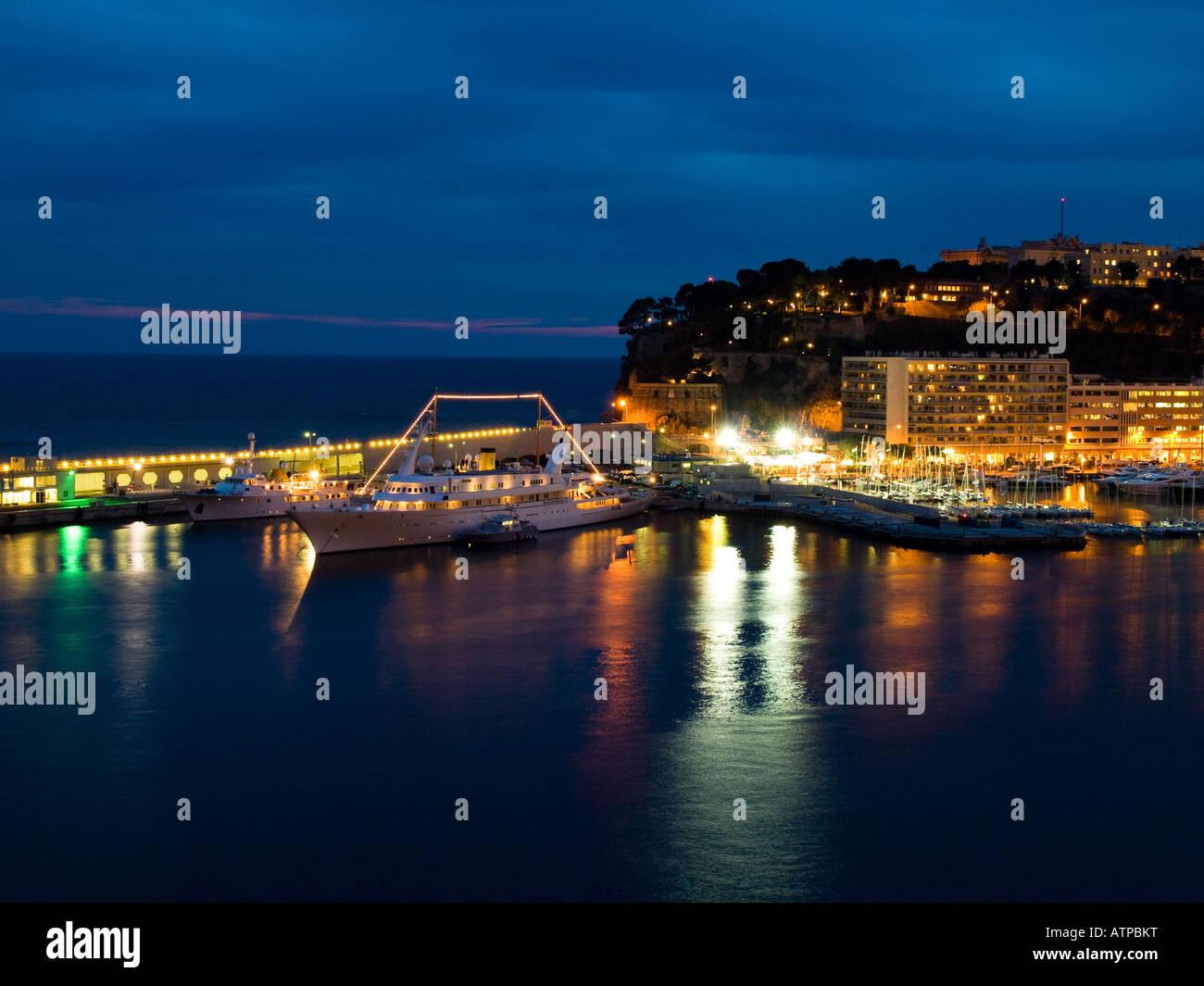Port Hercule, Monaco. - Stock Image