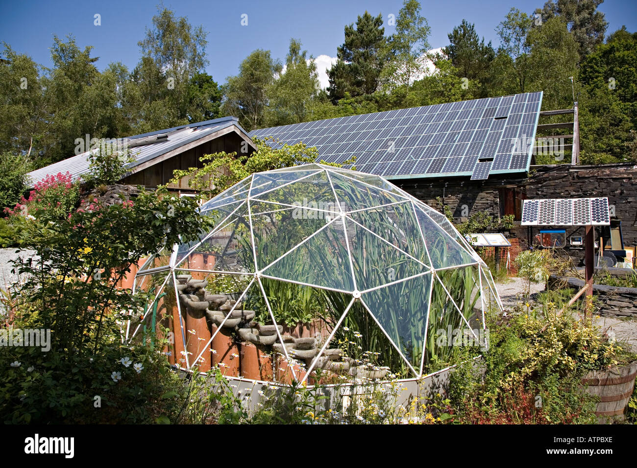 Lovely Geodesic Dome Greenhouse And Buildings With Solar Panel Roof Centre Of  Alternative Technology Machynlleth Powys Wales UK