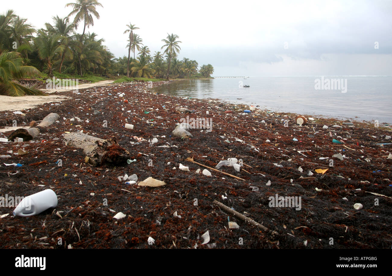 Up to 90% of floating marine debris is plastic and is a danger to marine wildlife - Stock Image