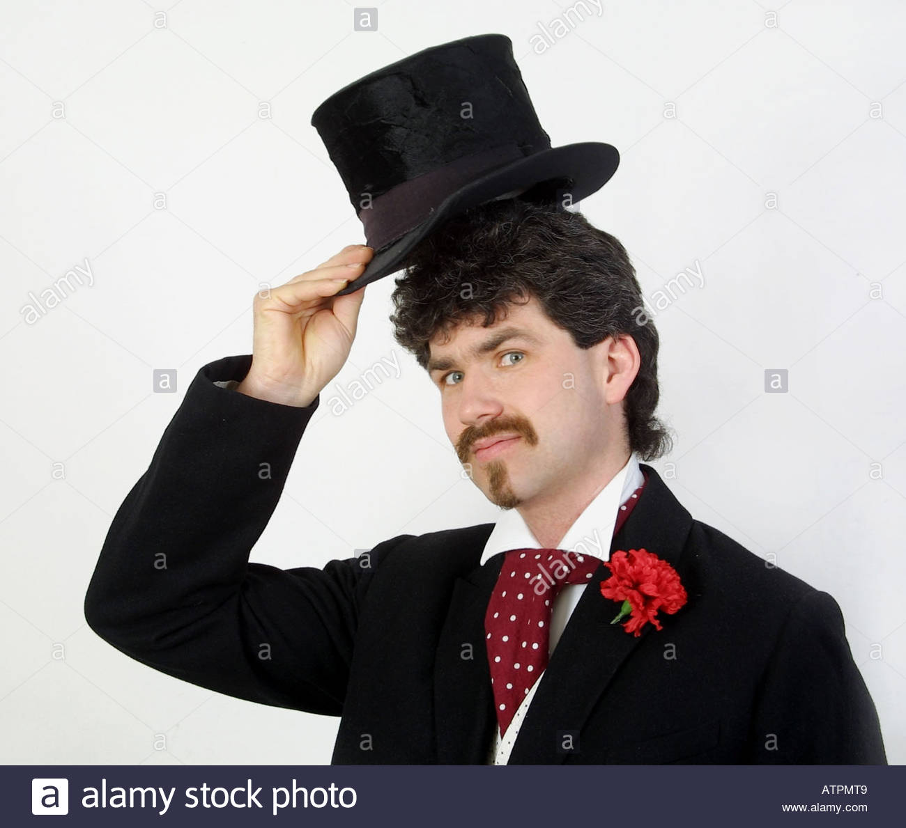 Young Man Elevating His Cylinder - Stock Image