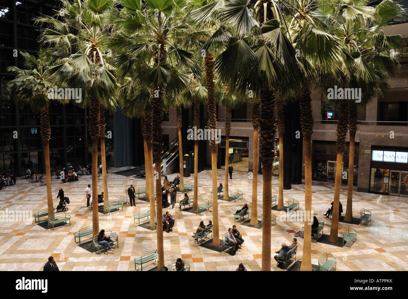 Winter Garden At The World Financial Center Stock Photos & Winter ...