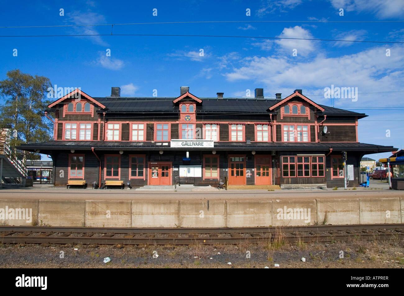 Railway station / Gallivare - Stock Image