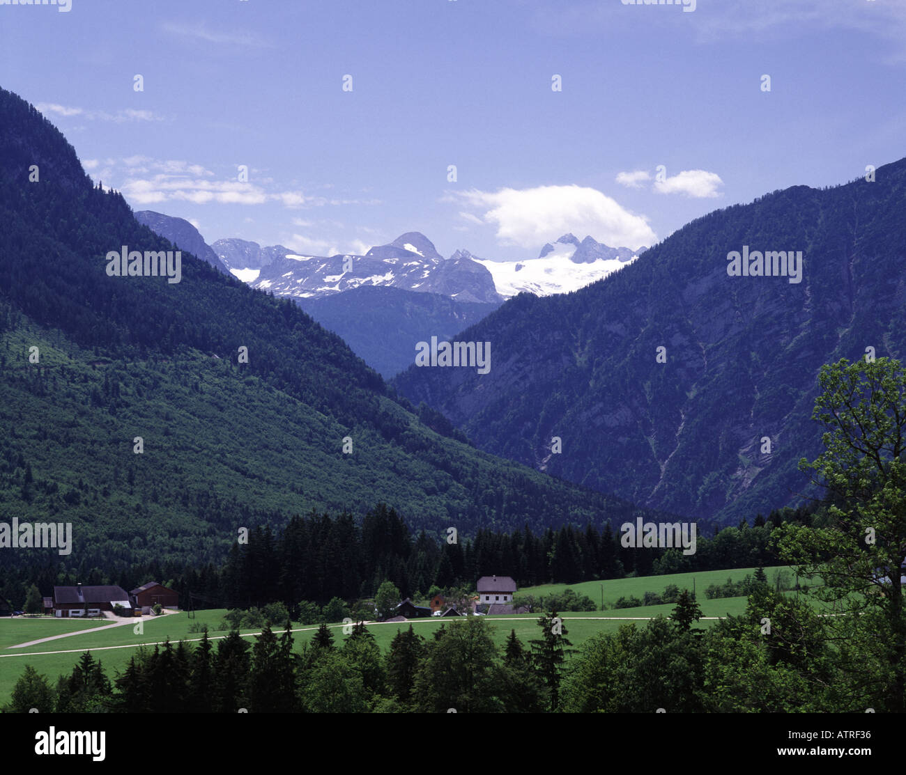 Austria Schladminger Tauern at Forstau and the Dachsteingruppe Alps Stock Photo