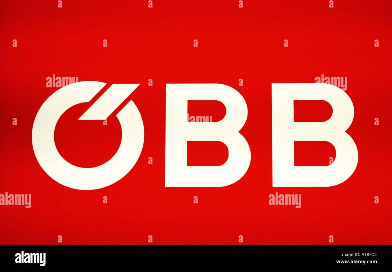 ÖBB, Austrian Railways, sign, logo - Stock Image