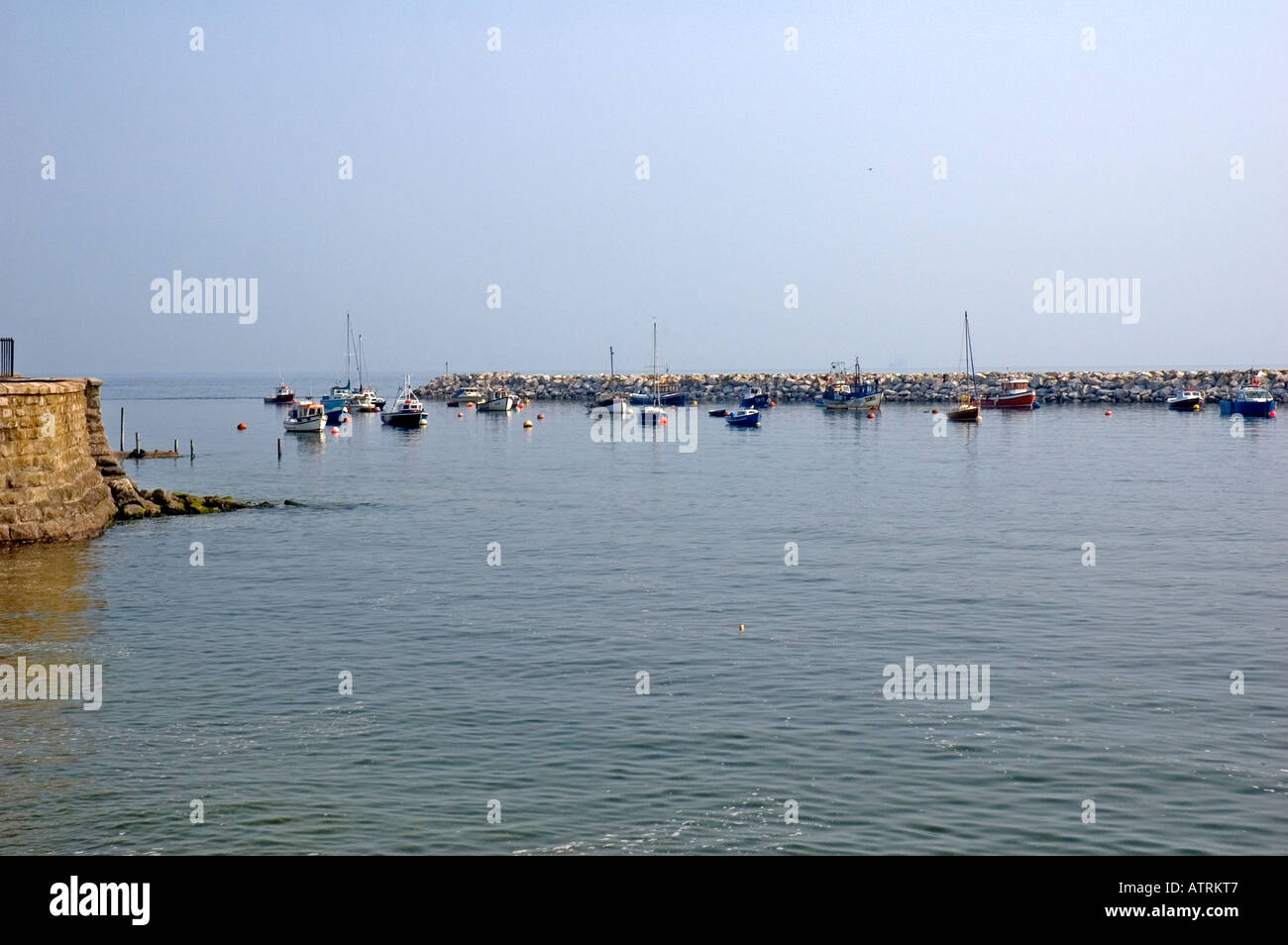 Rhos on Sea harbour - Stock Image