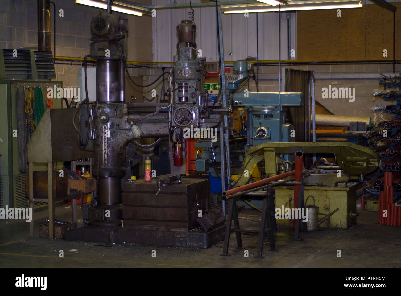 A Metalwork Machining Workshop - Stock Image