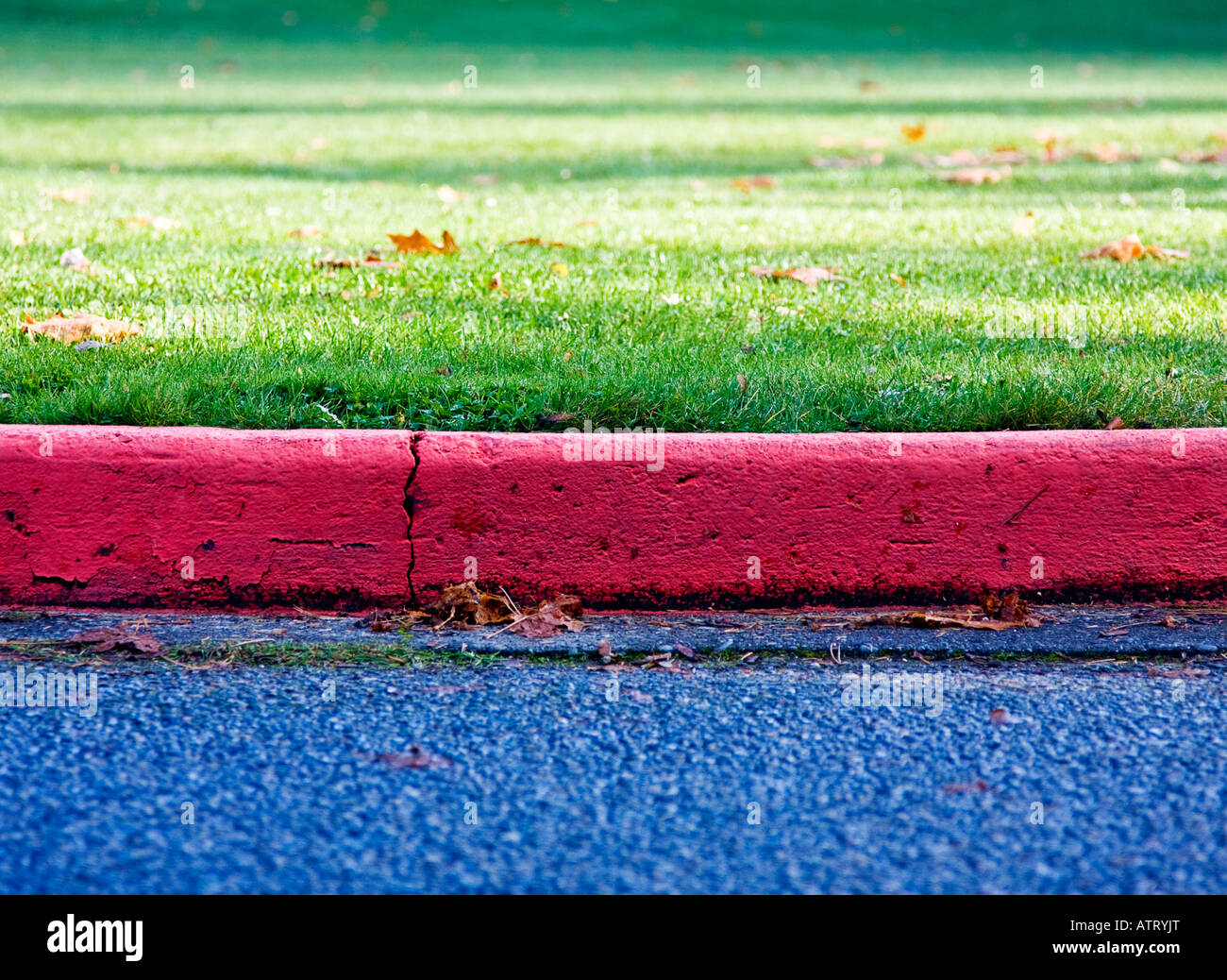 Parking lot curb - Stock Image
