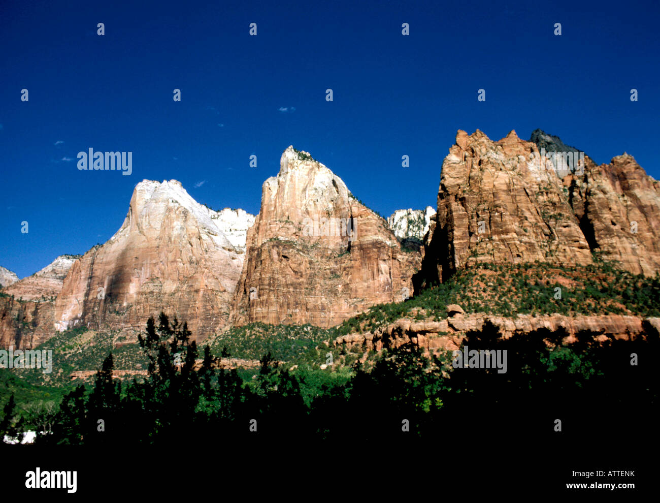 UT Utah Zion National Park geologic formations geology - Stock Image