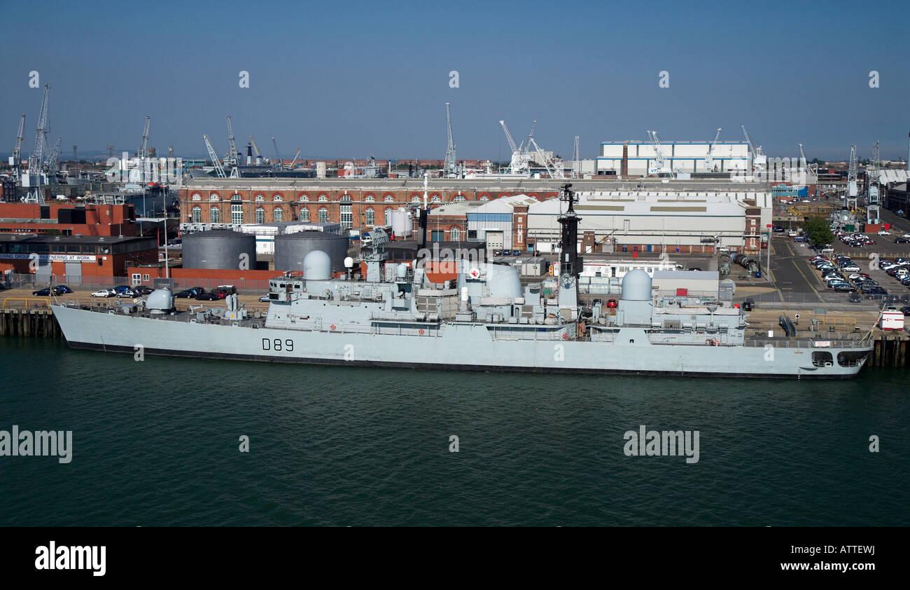 HMS Exeter in HM Dockyard Portsmouth - Stock Image