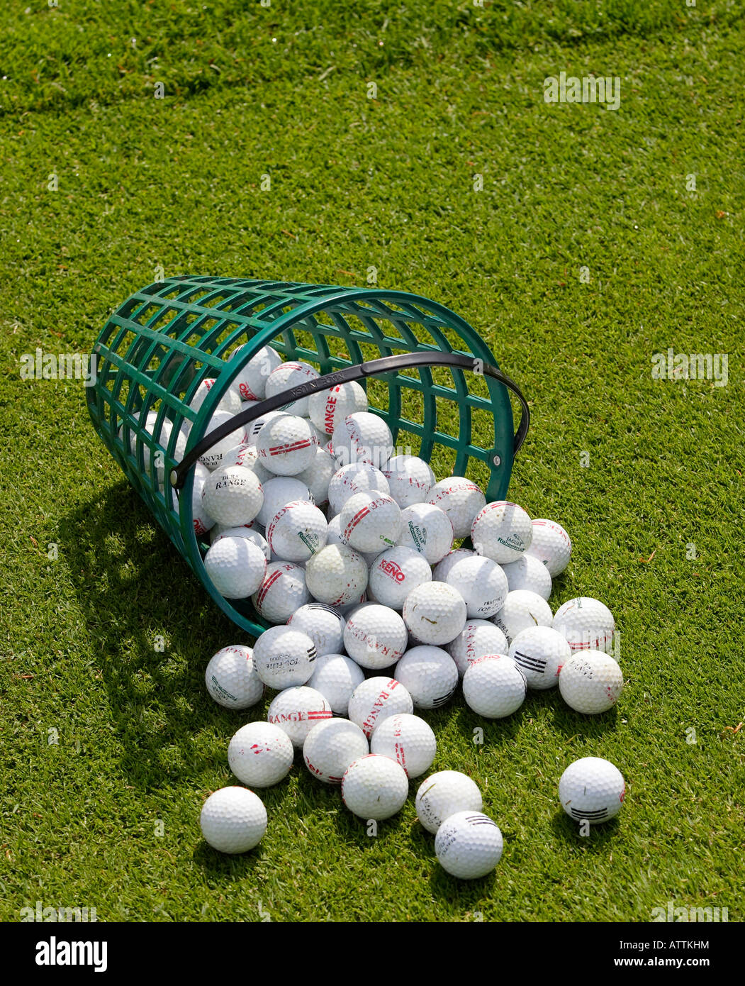 golf balls basket driving range stock photo 16389055 alamy rh alamy com Core Golf Balls Wooden Practice Golf Ball Metal Baskets