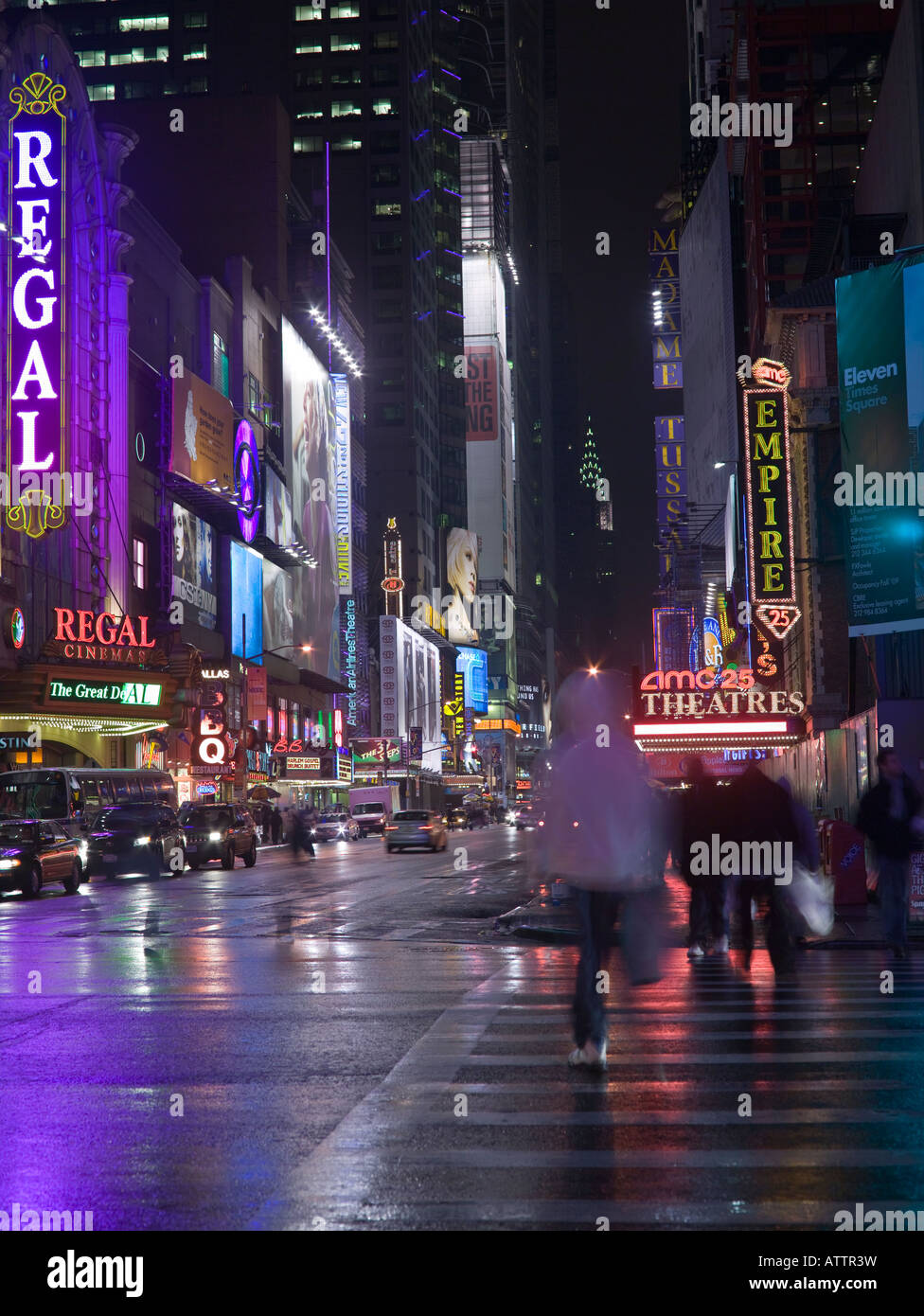 42nd street times square area new york usa at night stock photo 16390236 alamy. Black Bedroom Furniture Sets. Home Design Ideas