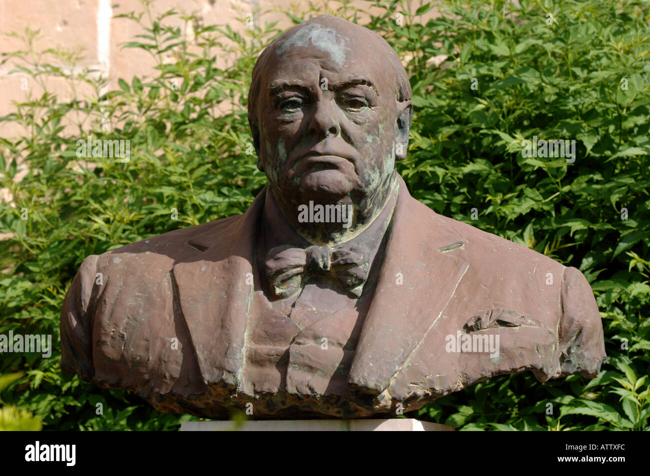 Sir Winston Churchill statue Barrakka Gardens The Island of Malta - Stock Image