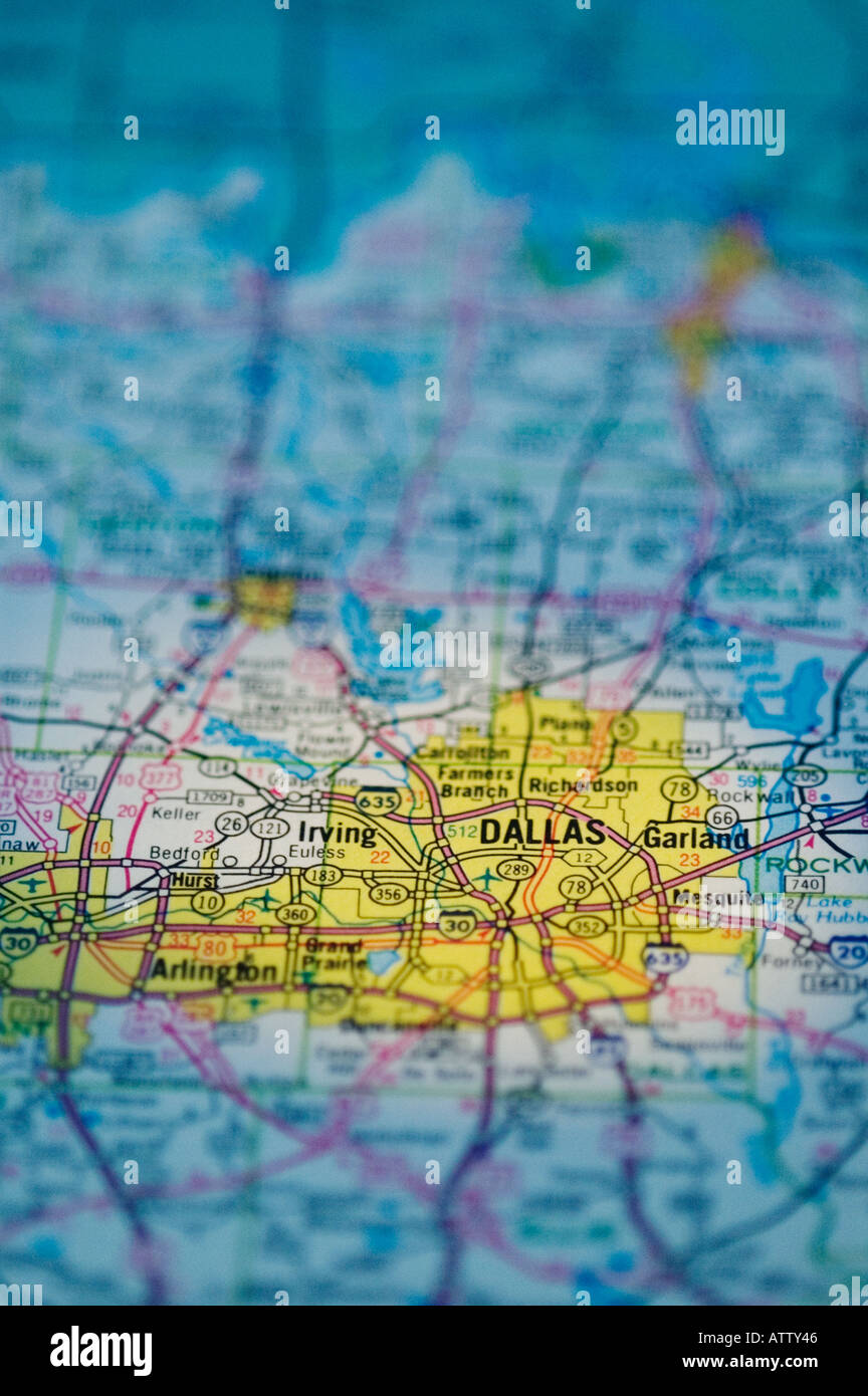 DALLAS, TEXAS STATE, ROAD MAP Stock Photo: 5352261 - Alamy on schneider texas map, ellsworth texas map, alberta texas map, city of wichita falls texas map, irvington texas map, lingleville texas map, keller tx, paluxy texas map, robson ranch texas map, kennedale texas map, bryan county texas map, south san antonio texas map, flowermound texas map, anson texas map, coppell texas map, la coste texas map, macarthur texas map, tyler texas map, austin texas map, frisco texas map,