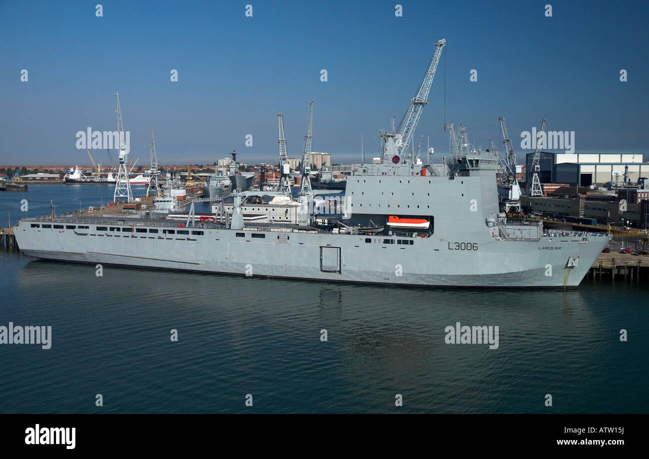RAF Largs Bay in HM Dockyard Portsmouth - Stock Image
