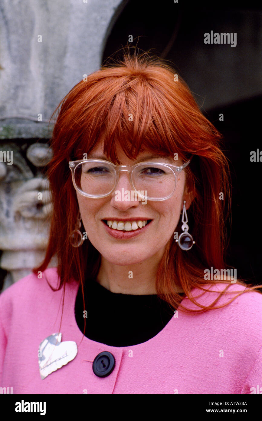 Janet Street Porter journalist and television presenter in London in England in Great Britain in the United Kingdom - Stock Image