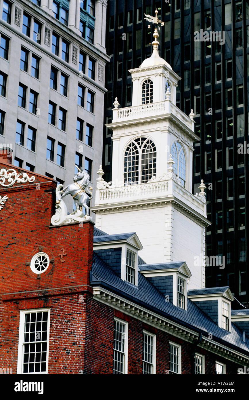 USA Boston Massachusetts The Old State House - Stock Image