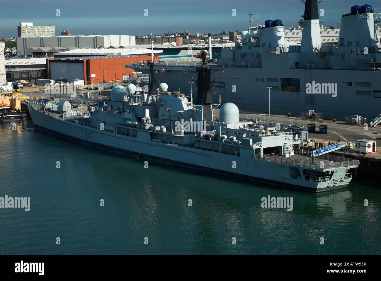 HMS Edinburgh in HM Dockyard Portsmouth - Stock Image