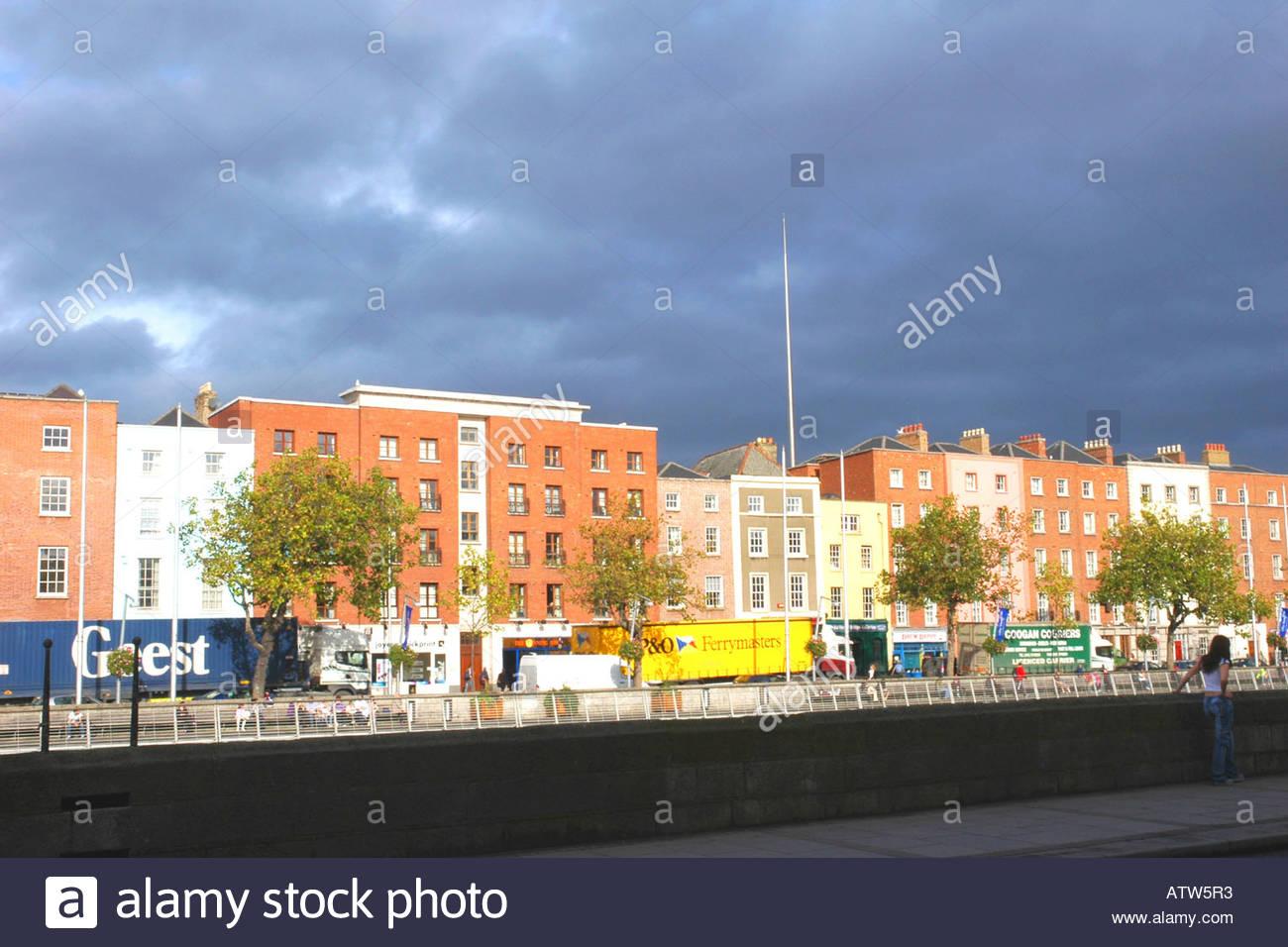 Wood Quay Dublin Ireland - Stock Image