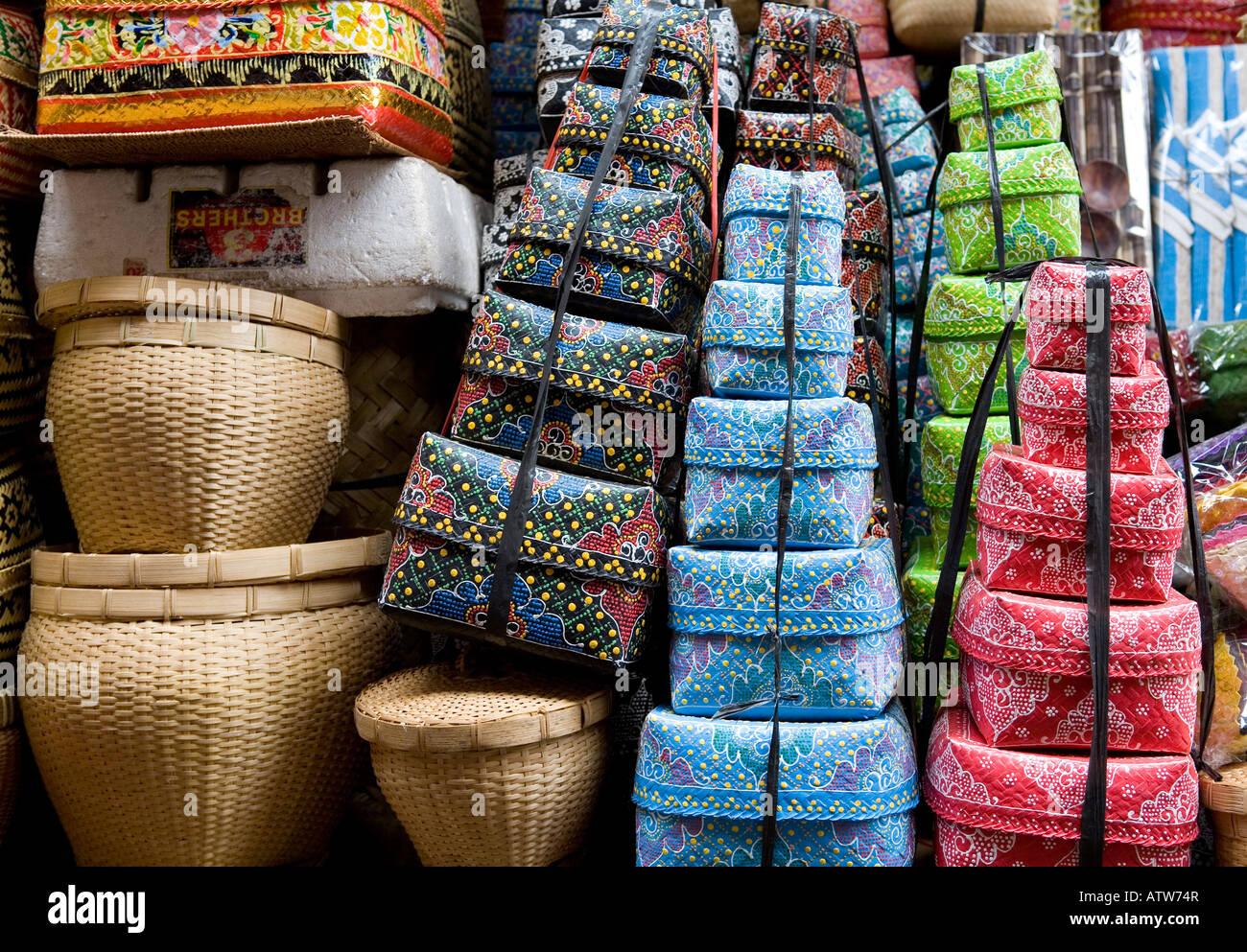 Street Market Ubud Bali Indonesia - Stock Image