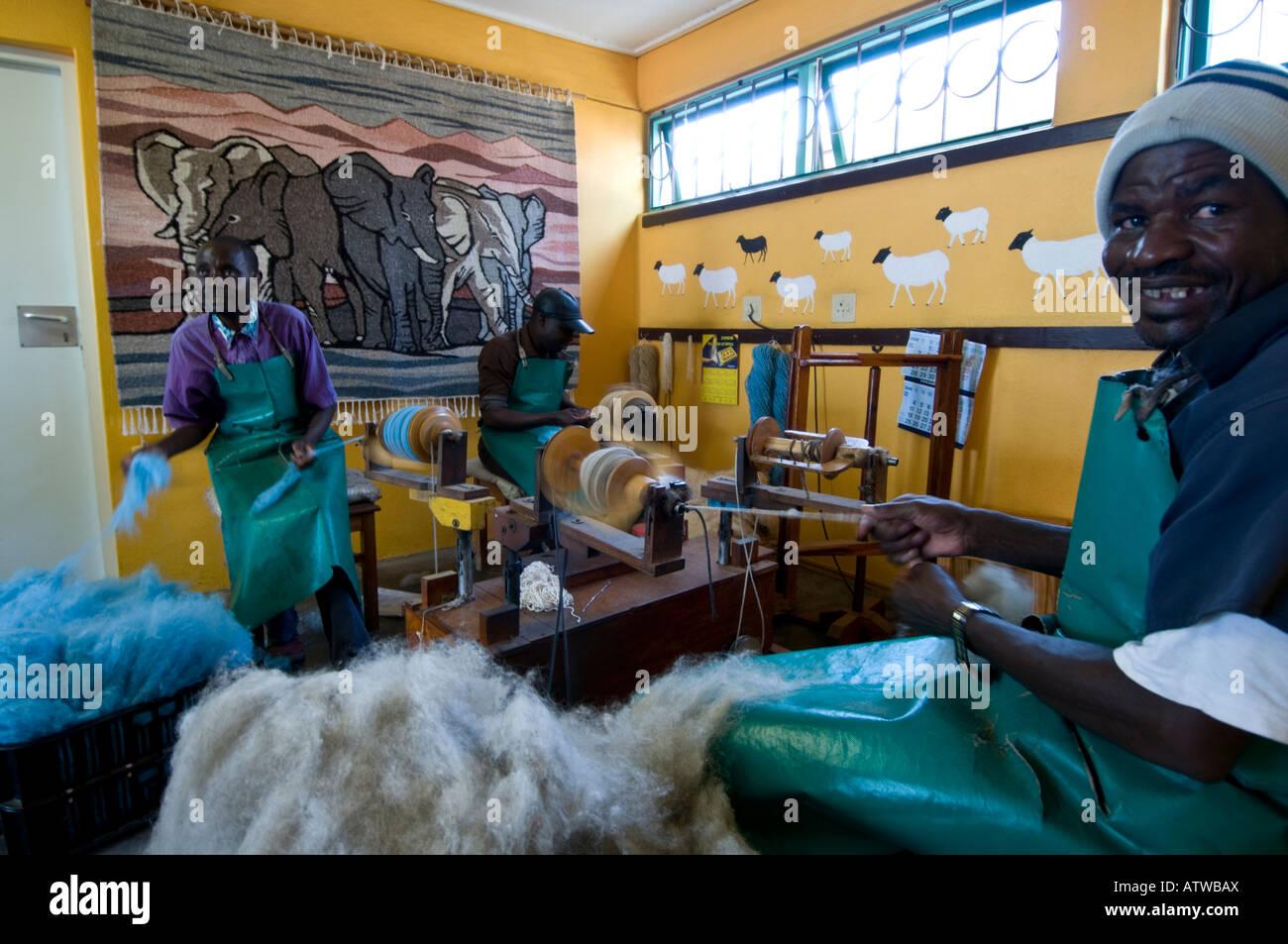 Karakulia Weavers in Swakopmund Namibia - Stock Image