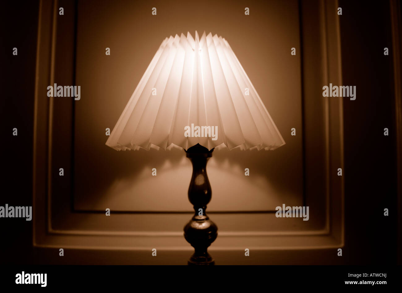 SEPIA LAMP - Stock Image